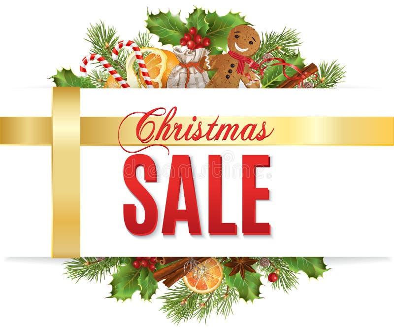 Έμβλημα πώλησης Χριστουγέννων απεικόνιση αποθεμάτων