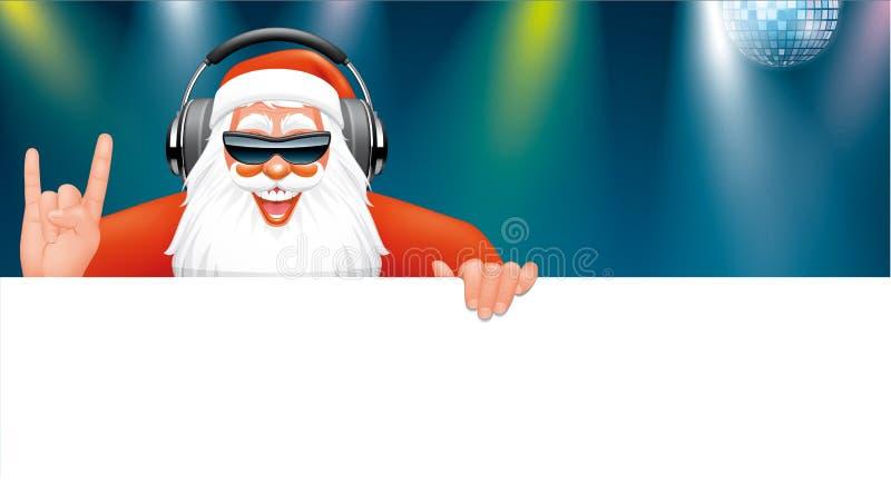 Έμβλημα του DJ Santa ελεύθερη απεικόνιση δικαιώματος