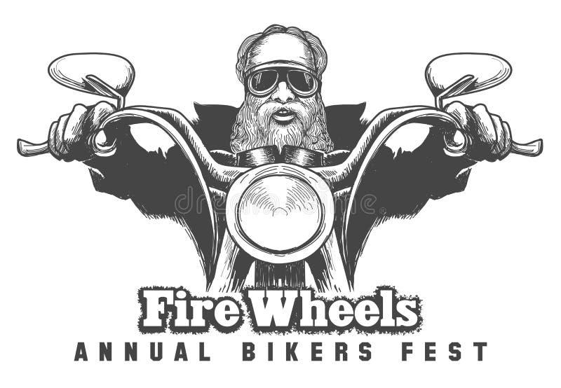 Έμβλημα φεστιβάλ ποδηλατών απεικόνιση αποθεμάτων