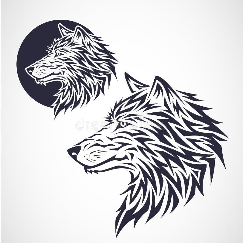 Έμβλημα λύκων διανυσματική απεικόνιση