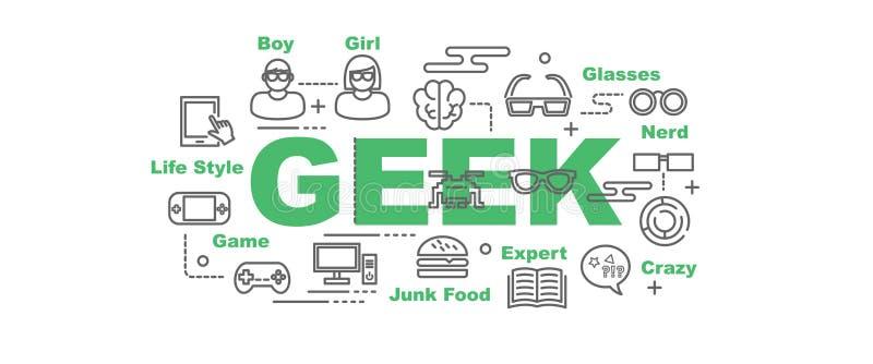 Έμβλημα Geek απεικόνιση αποθεμάτων