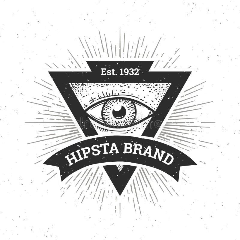 Έμβλημα Hipster διανυσματική απεικόνιση