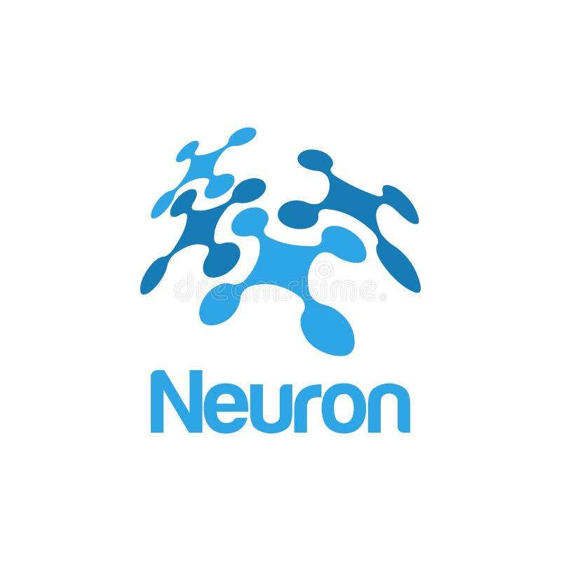 Έμπνευση σχεδίου λογότυπων νευρώνων διανυσματική απεικόνιση