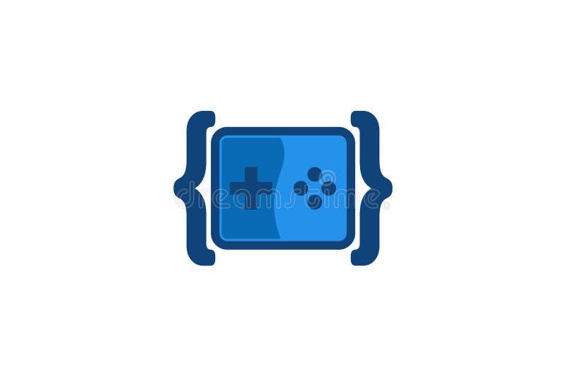 Έμπνευση σχεδίων λογότυπων παιχνιδιών κώδικα, διανυσματική απεικόνιση διανυσματική απεικόνιση