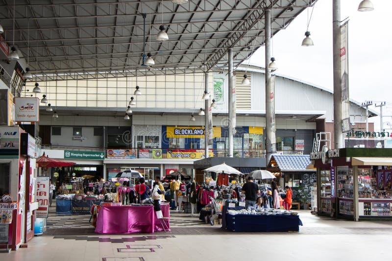 Έμφραξη Plaza Mee Σύγχρονο Plaza στο αστικό περιθώριο της πόλης chiangmai στοκ εικόνες με δικαίωμα ελεύθερης χρήσης