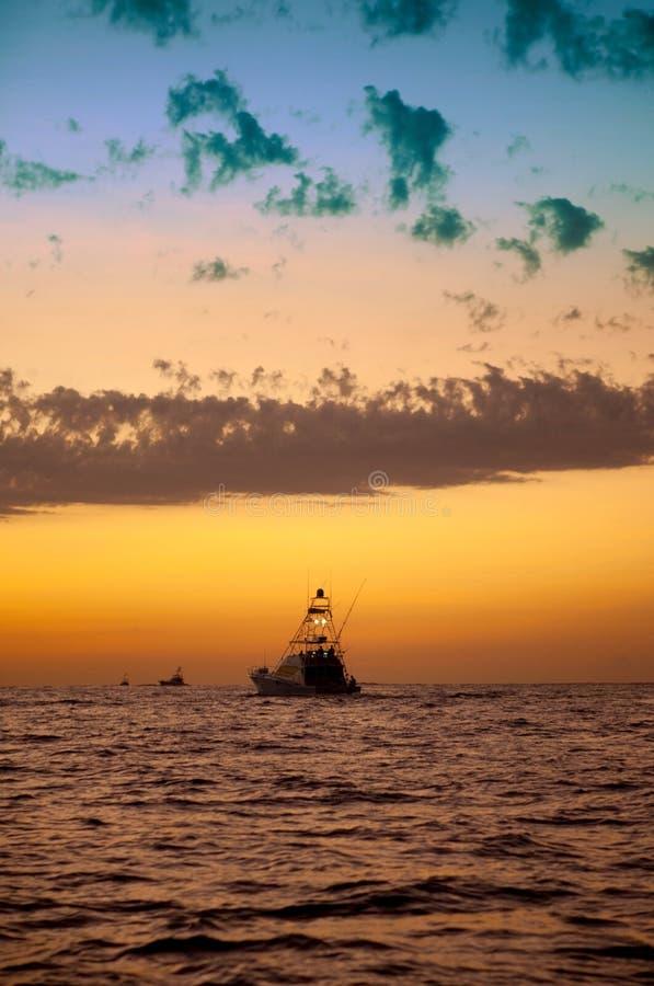 έναρξη νωρίς αλιείας στοκ φωτογραφία