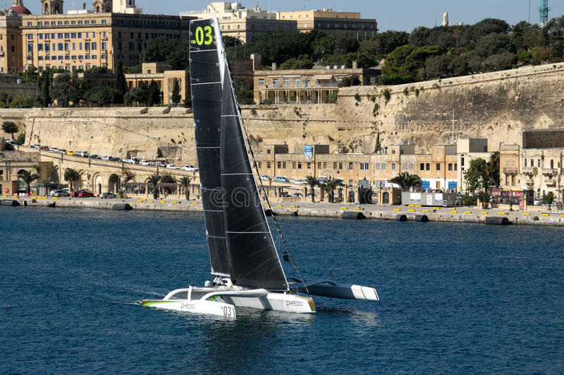 Έναρξη της μέσης φυλής θάλασσας της Μάλτας Rolex στοκ φωτογραφία με δικαίωμα ελεύθερης χρήσης