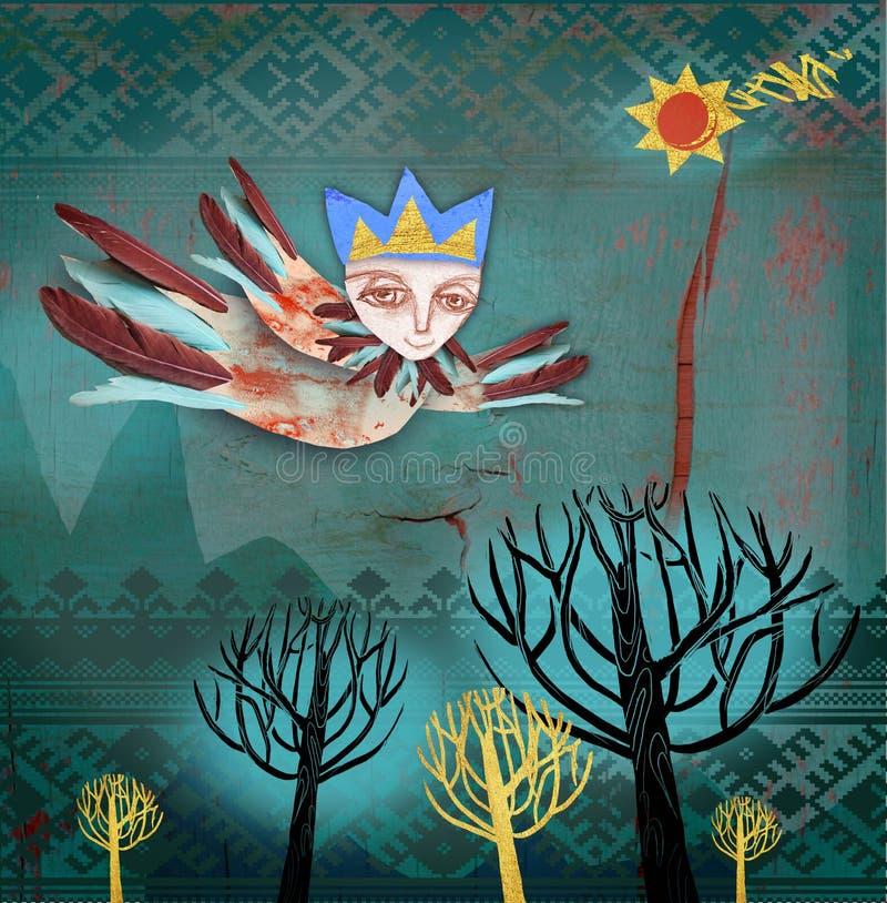 Ένας άγγελος seraphim φέρνει τις ειδήσεις των Χριστουγέννων απεικόνιση αποθεμάτων