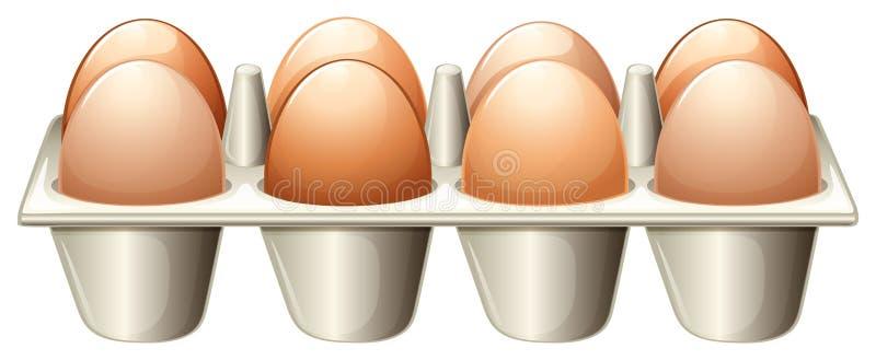 Ένας δίσκος με τα αυγά ελεύθερη απεικόνιση δικαιώματος