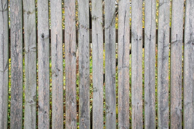 Ένας αγροτικός φράκτης στύλων Γκρίζος παλαιός σάπιος φράκτης στοκ εικόνες