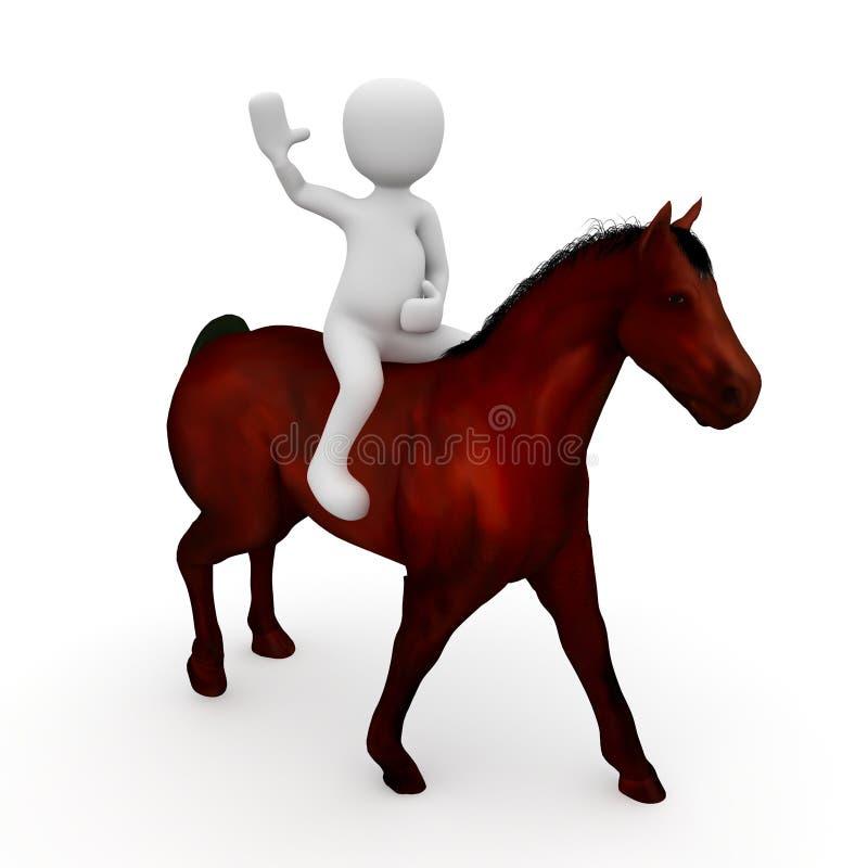 Ένας αναβάτης στην πλάτη αλόγου διανυσματική απεικόνιση