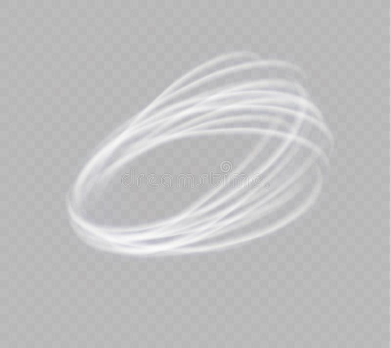 Ένας ανεμοστρόβιλος πυράκτωσης Περιστρεφόμενος αέρας Όμορφη επίδραση αέρα απομονωμένος σε ένα διαφανές υπόβαθρο επίσης corel σύρε απεικόνιση αποθεμάτων