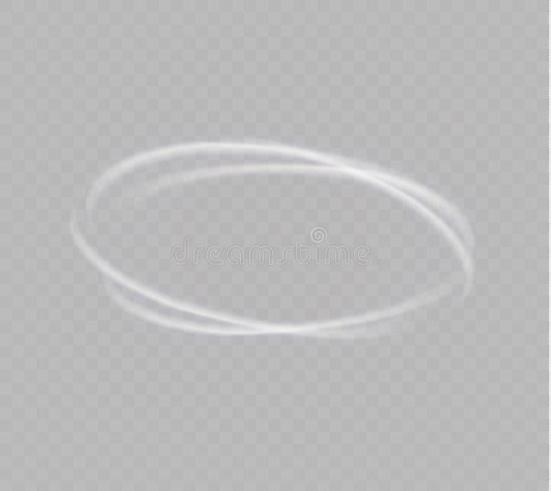 Ένας ανεμοστρόβιλος πυράκτωσης Περιστρεφόμενος αέρας Όμορφη επίδραση αέρα απομονωμένος σε ένα διαφανές υπόβαθρο επίσης corel σύρε διανυσματική απεικόνιση