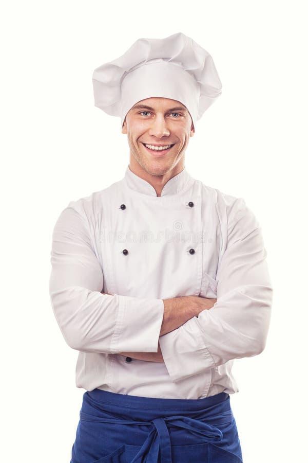 Ένας αρσενικός αρχιμάγειρας στοκ εικόνες με δικαίωμα ελεύθερης χρήσης