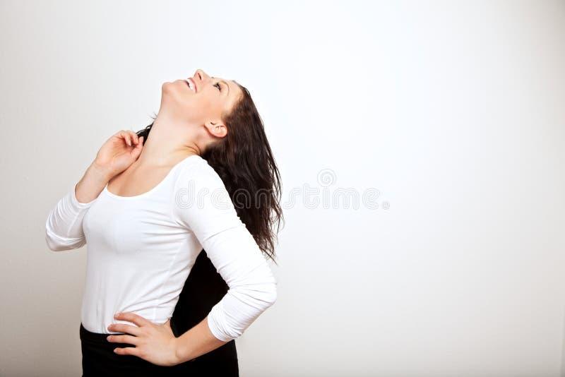 Ένας γελώντας εργαζόμενος γραφείων στοκ φωτογραφία με δικαίωμα ελεύθερης χρήσης