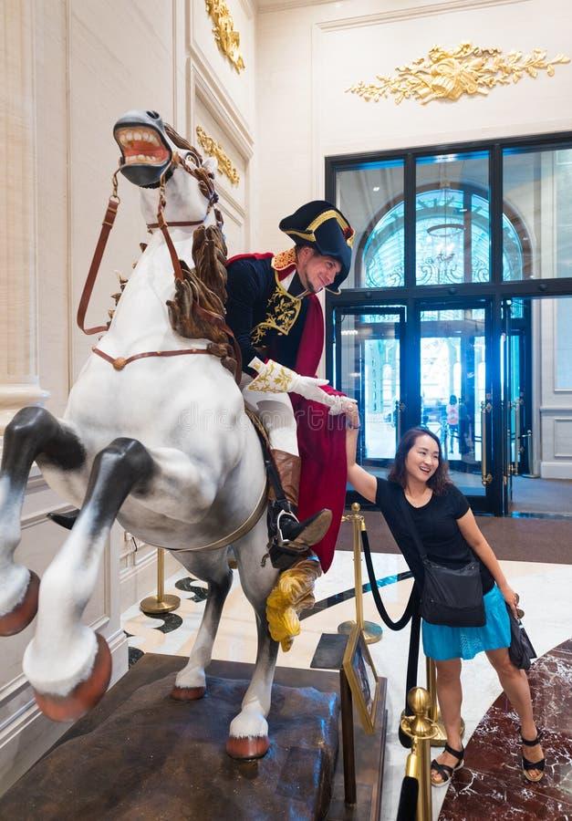 Ένας δράστης έντυσε ως Napoleon στοκ εικόνες με δικαίωμα ελεύθερης χρήσης