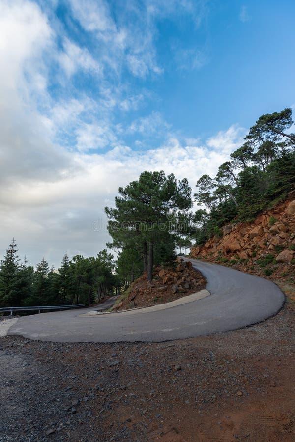 Ένας δρόμος βουνών στην Ισπανία στοκ εικόνες