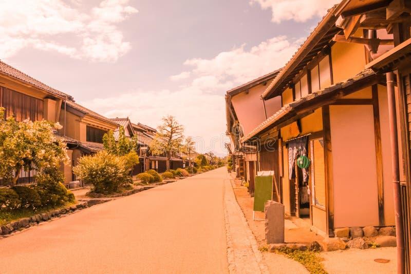 Ένας δρόμος και η παλαιά πόλη του unno-Juku είναι μια μετα πόλη και οι δωδεκάδες των παλαιών κτηρίων έχουν συντηρηθεί υπέροχα για στοκ φωτογραφίες