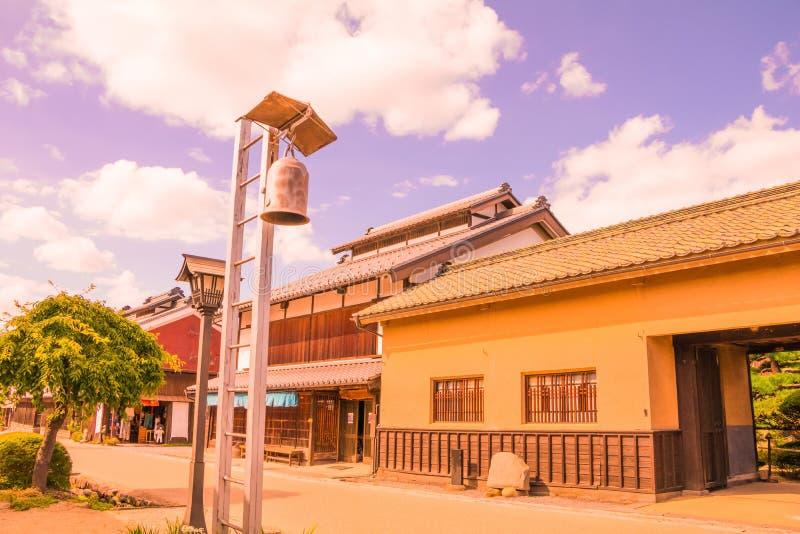 Ένας δρόμος και η παλαιά πόλη του unno-Juku είναι μια μετα πόλη και οι δωδεκάδες των παλαιών κτηρίων έχουν συντηρηθεί υπέροχα για στοκ φωτογραφία με δικαίωμα ελεύθερης χρήσης