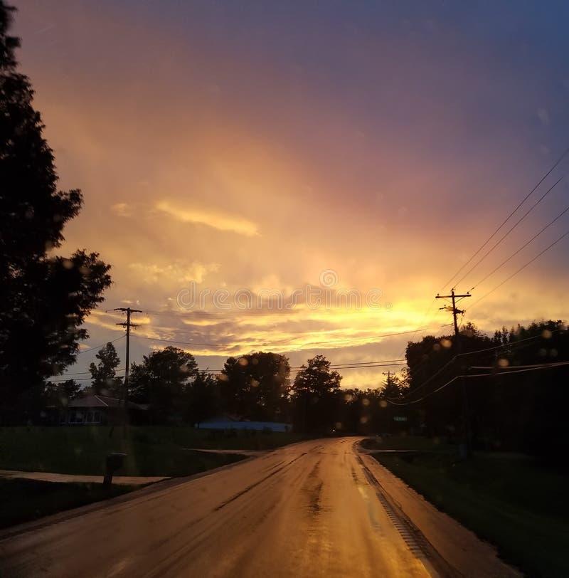 Ένας δρόμος που ταξιδεύουν καλά στοκ εικόνες