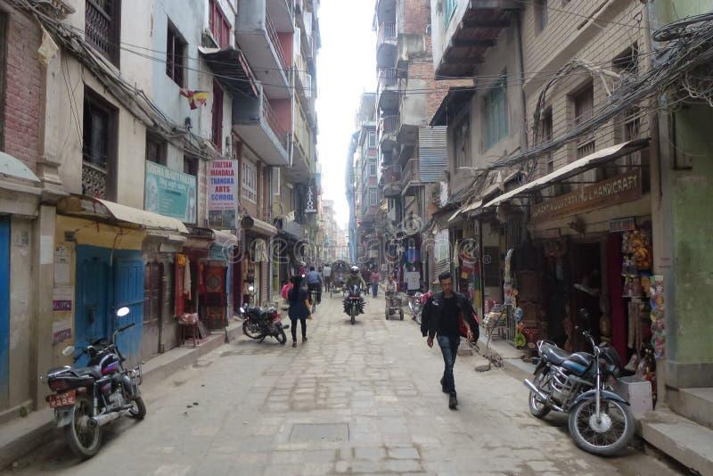 Ένας δρόμος στο Κατμαντού, Νεπάλ στοκ φωτογραφίες