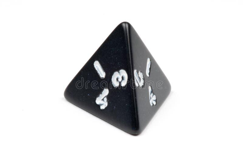 Ένας ενιαίος τέσσερις-πλαισιωμένος κύβος (tetrahedron) στοκ εικόνες