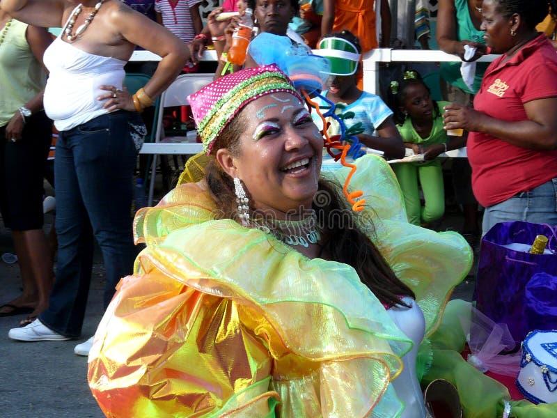 Ένας εύθυμος κάτοικος του Κουρασάο στο καρναβάλι 3 Φεβρουαρίου 2008 στοκ φωτογραφία με δικαίωμα ελεύθερης χρήσης