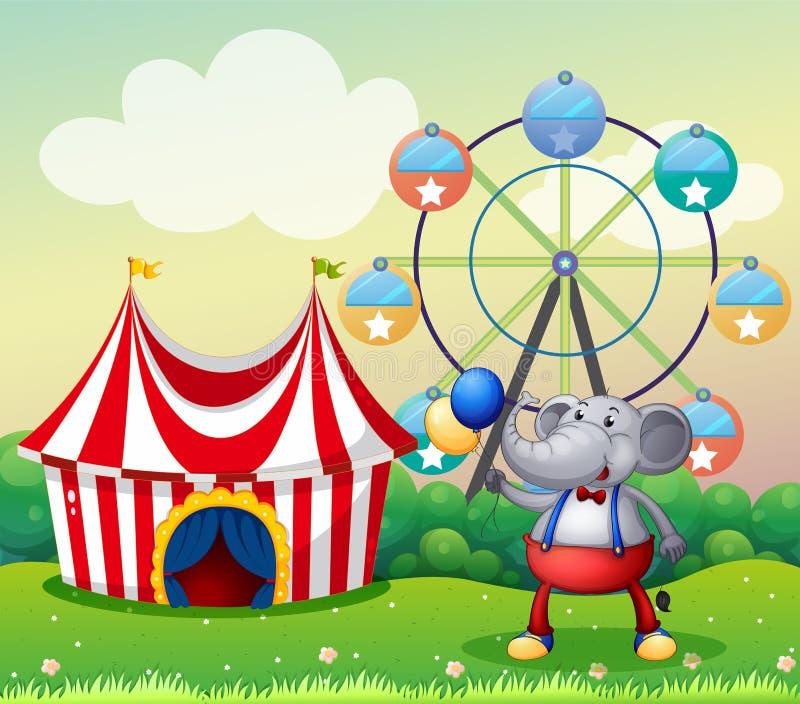 Ένας ελέφαντας στο καρναβάλι ελεύθερη απεικόνιση δικαιώματος