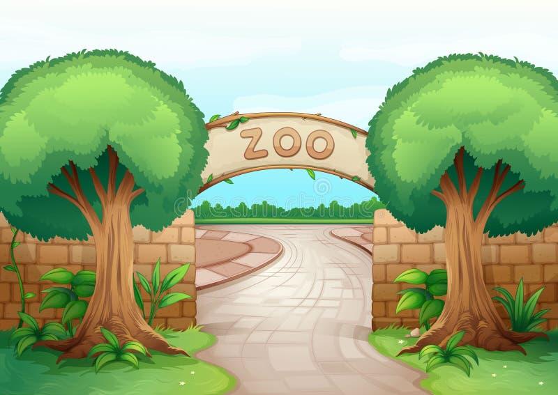Ένας ζωολογικός κήπος διανυσματική απεικόνιση