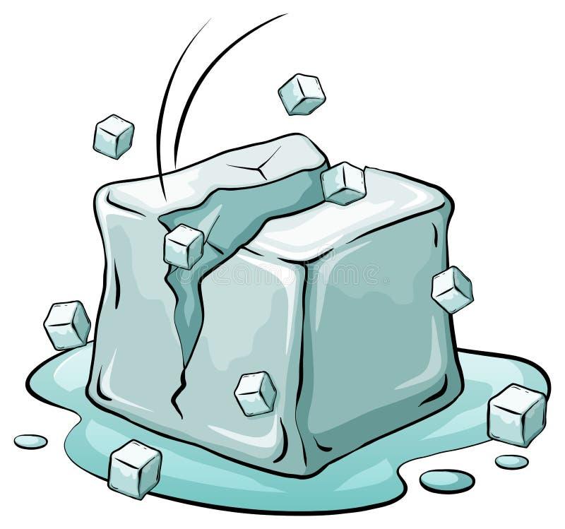 Ένας κύβος πάγου απεικόνιση αποθεμάτων