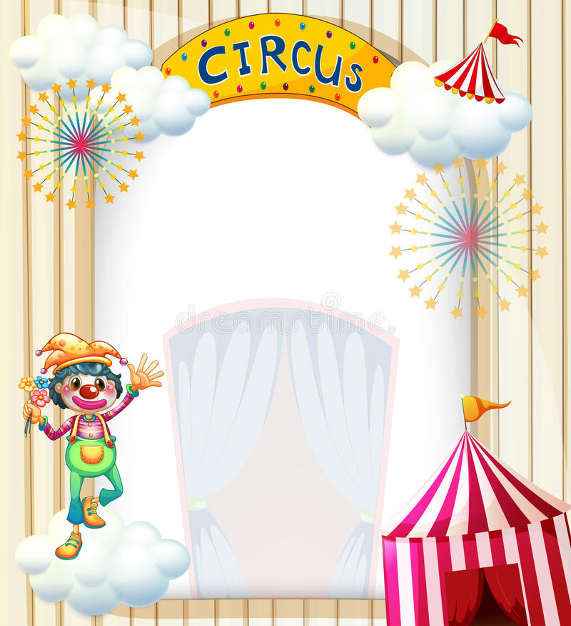 Ένας κλόουν στο τσίρκο απεικόνιση αποθεμάτων