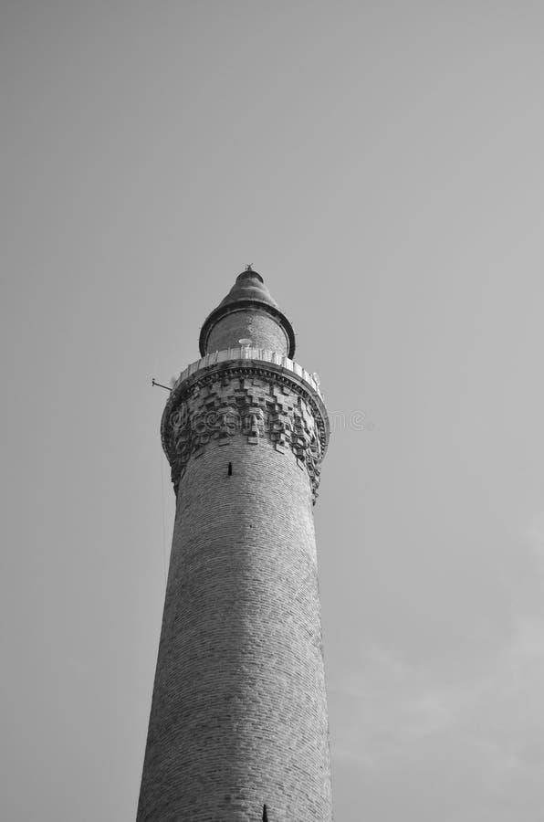 Ένας μιναρές μουσουλμανικών τεμενών στην πόλη του Bursa στοκ φωτογραφία με δικαίωμα ελεύθερης χρήσης