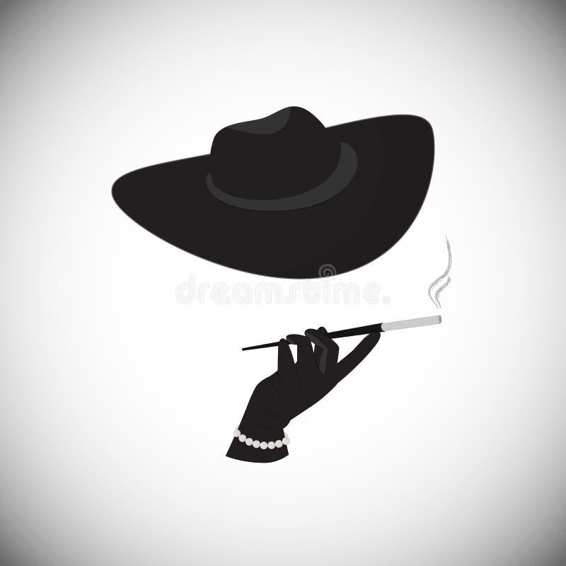 Ένας μυστήριος ξένος με ένα τσιγάρο στο επιστόμιο ελεύθερη απεικόνιση δικαιώματος
