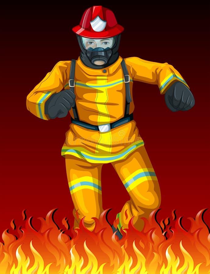 Ένας πυροσβέστης απεικόνιση αποθεμάτων