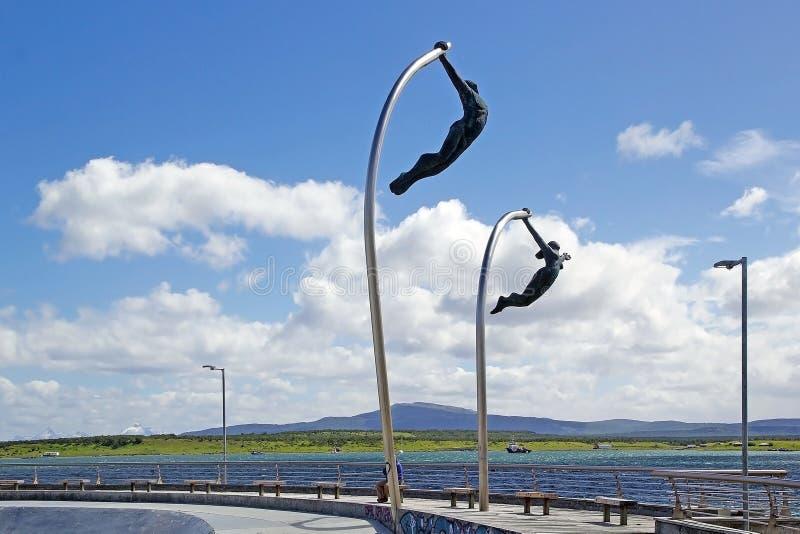 Ένας σεβασμός στον αέρα σε Puerto Natales στην Παταγωνία, Χιλή στοκ φωτογραφία με δικαίωμα ελεύθερης χρήσης