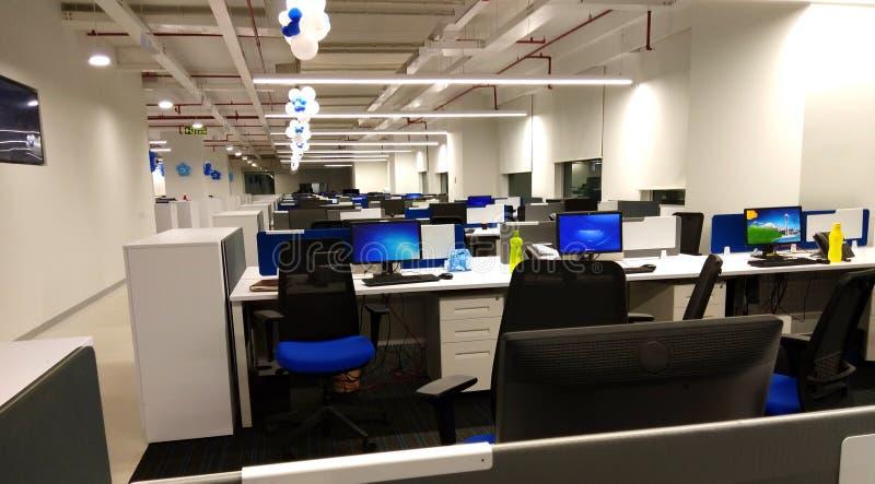 Ένας σταθμός εργασίας μιας επιχείρησης τεχνολογίας πληροφοριών στοκ φωτογραφία