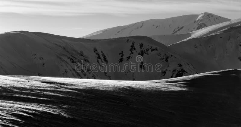 Ένας στα βουνά στοκ εικόνες με δικαίωμα ελεύθερης χρήσης