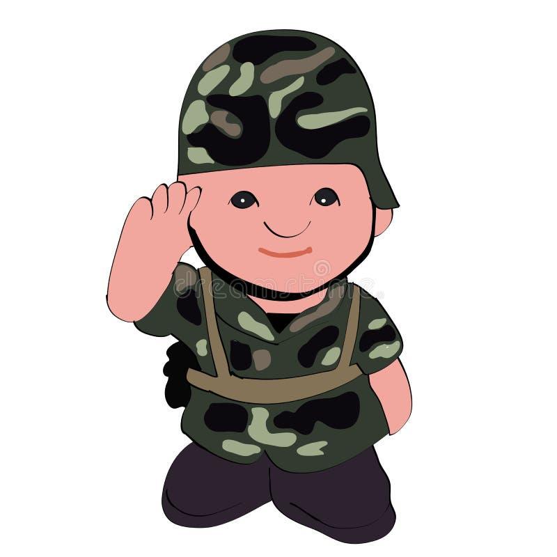 Ένας στρατιώτης που δίνει μια τιμή. διανυσματική απεικόνιση