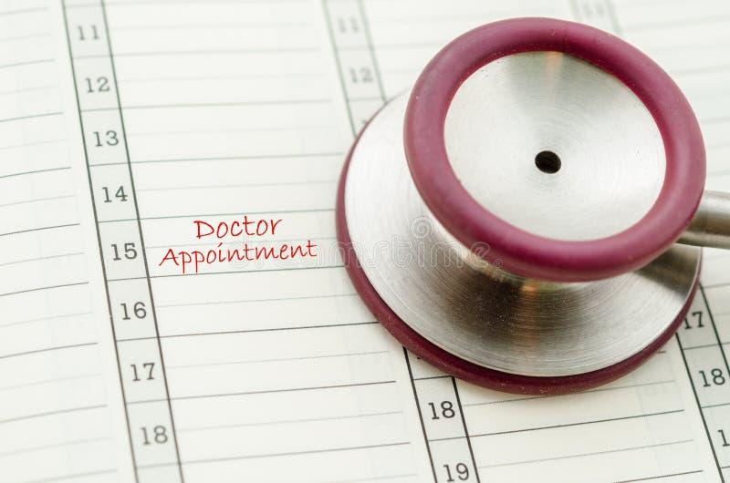Ένας σχεδιασμένος διορισμός γιατρών στοκ εικόνα