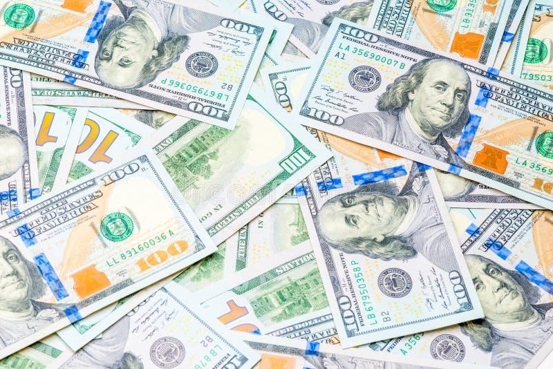 ένας σωρός του δολαρίου 100 τιμολογεί κοντά επάνω στοκ φωτογραφίες με δικαίωμα ελεύθερης χρήσης