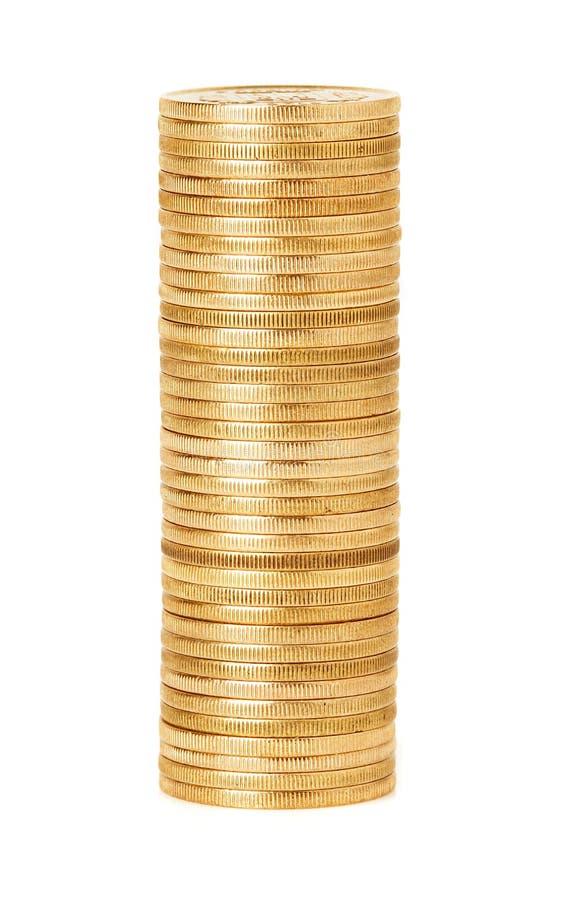 Ένας σωρός των χρυσών νομισμάτων στοκ εικόνες