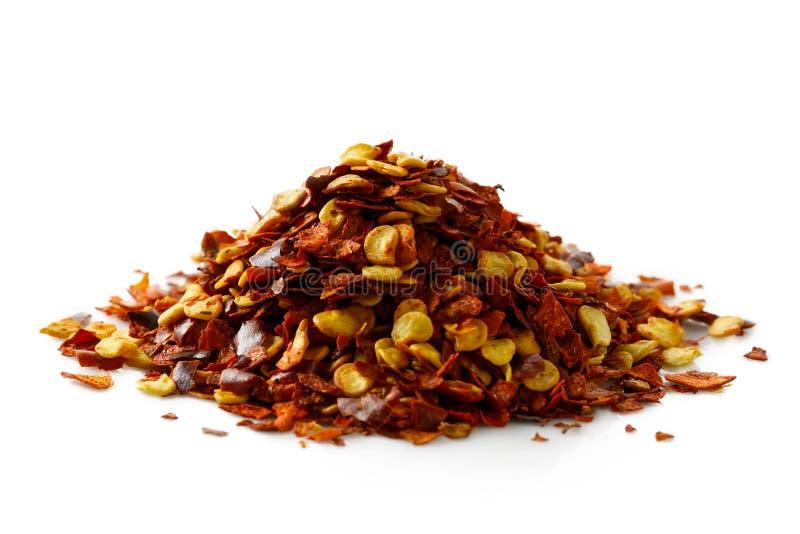 Ένας σωρός των χυδαία αλεσμένων πιπεριών τσίλι στοκ εικόνες με δικαίωμα ελεύθερης χρήσης