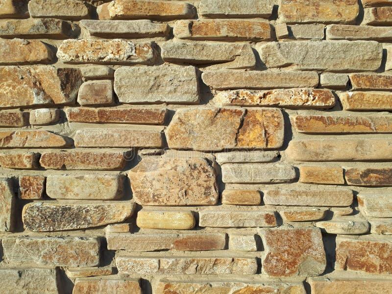 Ένας τοίχος της γκρίζας πέτρας Πλινθοδομή στοκ φωτογραφίες με δικαίωμα ελεύθερης χρήσης