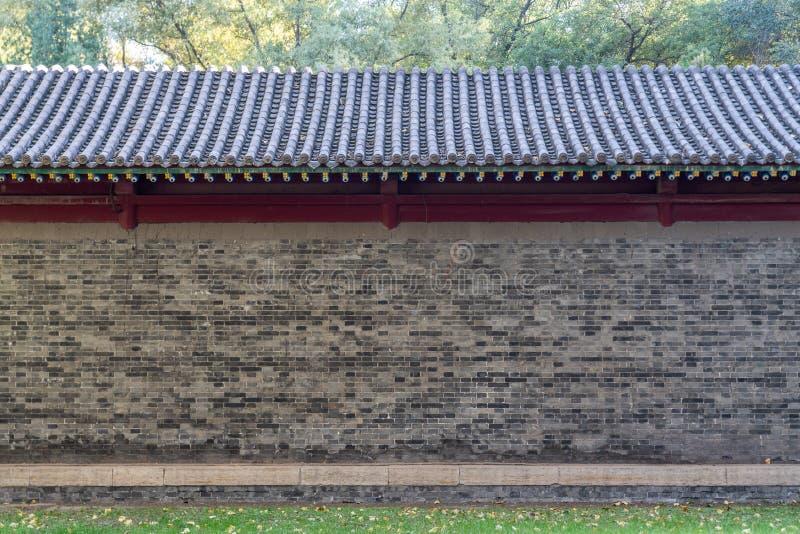 Ένας τοίχος του αρχαίου κινεζικού ύφους στοκ φωτογραφία