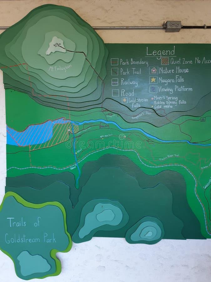 Ένας τοπογραφικός χάρτης με γραμμές περιγράμματος στοκ φωτογραφία