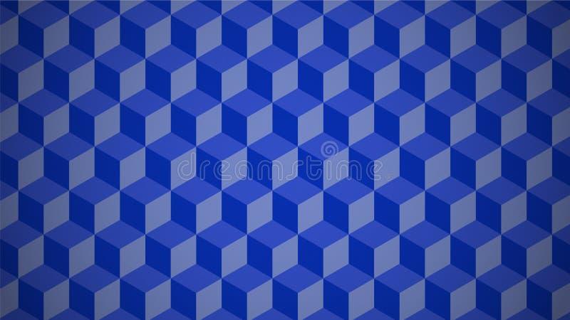 Ένας υψηλός - μπλε βαθμοί ` υποβάθρου ` ποιοτικών τρισδιάστατοι σχεδίων διανυσματική απεικόνιση