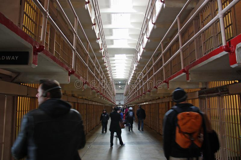 Ένας φραγμός κυττάρων σε Alcatraz στοκ εικόνες