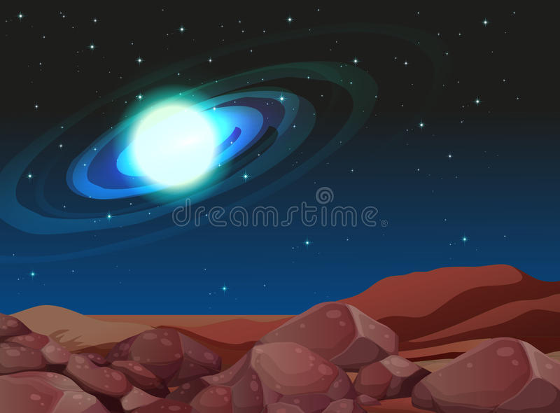 Ένας φωτεινός ουρανός απεικόνιση αποθεμάτων