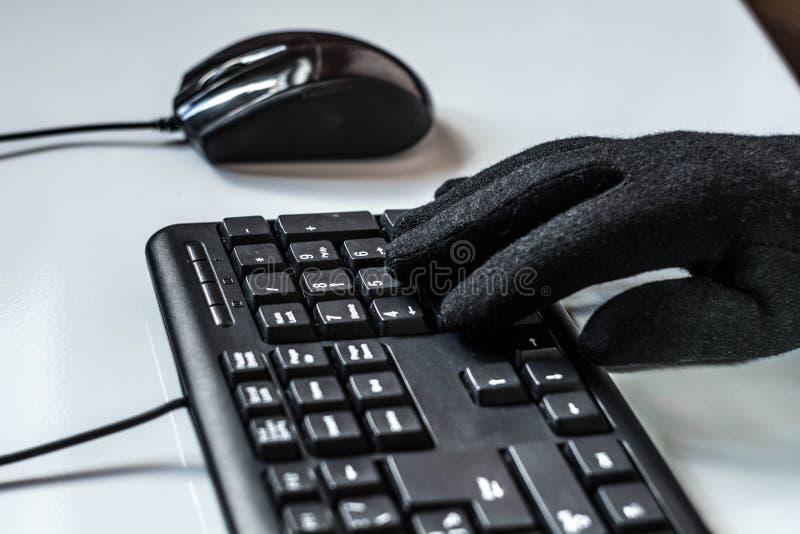 Ένας χάκερ στοκ φωτογραφίες