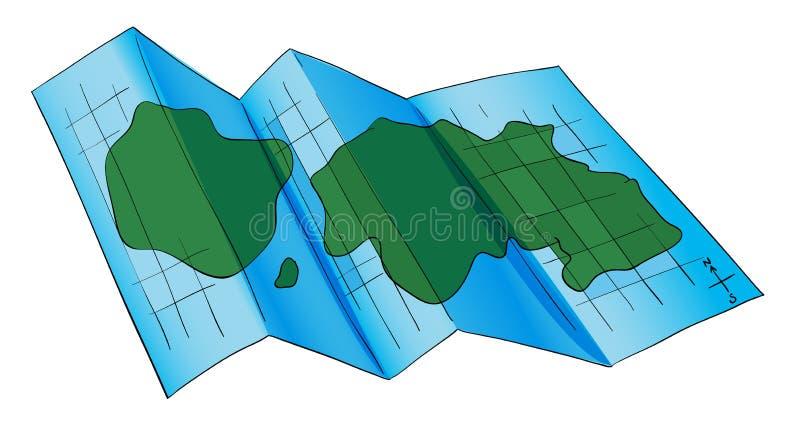 Ένας χάρτης διανυσματική απεικόνιση